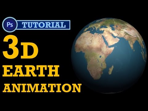 How to make 3D earth Animation in Photoshop? | Photoshop Tutorial | Intermediate Level