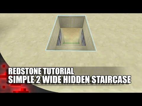 Minecraft: Simple 2 Wide Hidden Staircase!
