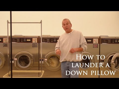How to clean or launder a pillow