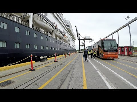 Anchorage Cruise Ship Shuttle Ride from Cruise Port to Downtown (4K)