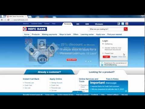 HDFC - How to login to HDFC Netbanking