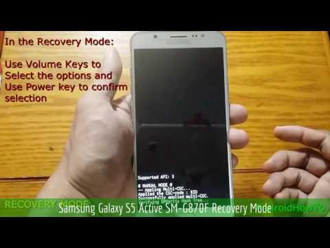 Samsung Galaxy S5 Active SM-G870F Recovery Mode