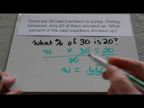 Finding percent in word problems (6th grade and up)