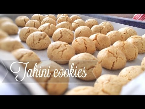 Turkish tahini cookies - biscuits - tahinli kurabiye