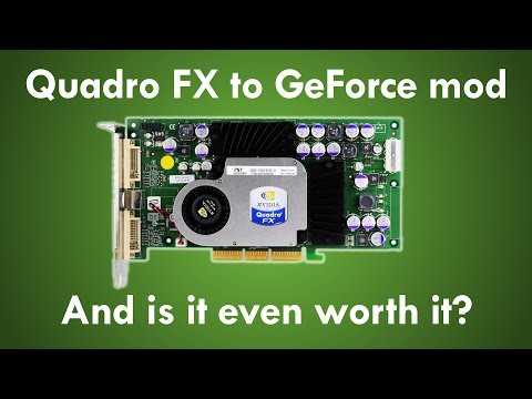 Quadro FX to GeForce mod - And is it even worth it?
