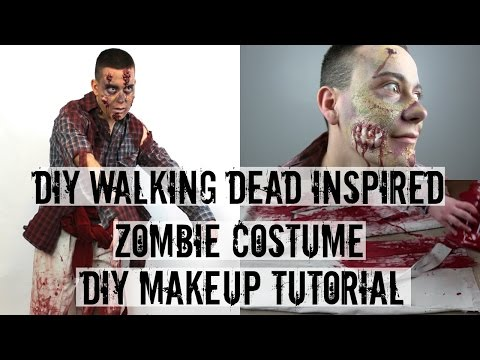 DIY ZOMBIE MAKE UP | WALKING DEAD INSPIRED