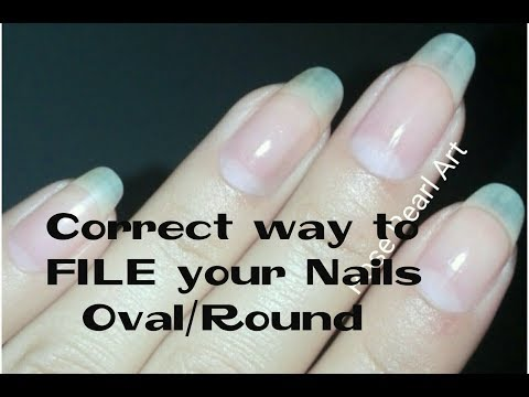 How to FILE and SHAPE your Nails Perfectly- (Almond to Oval)-NAIL 101 | Rose Pearl
