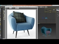 3dsmax model comfortable chair - quickly