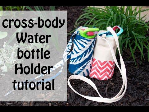 Cross body Water bottle holder bag tutorial