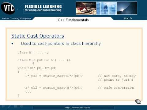 06  C++ Class Member Access   36  Static Cast Operators