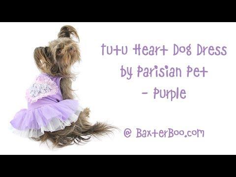 Tutu Heart Dog Dress by Parisian Pet - Purple