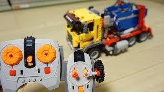 Lego Technic 8258 als Hakenlift LKW mit Abrollcontainer