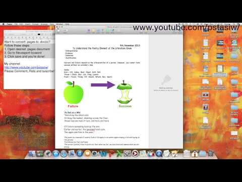 How to Convert a .pages File to a .doc or .docx File - HD Macintosh