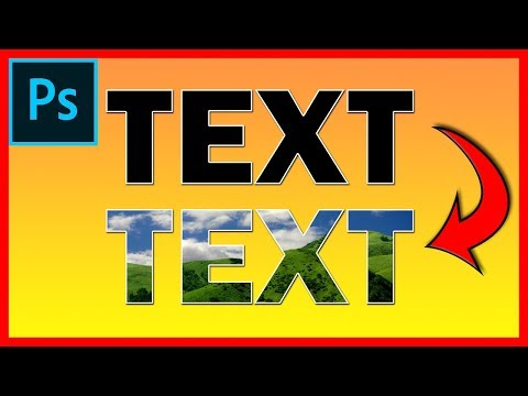 How to put an image inside a text in Photoshop CC - Tutorial