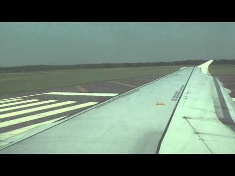 Spirit Air Airbus A319 takes off Atlantic City international airport (heavy right banking)