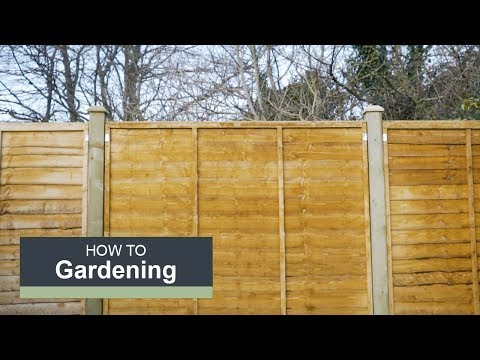 How to install a fence with Wickes