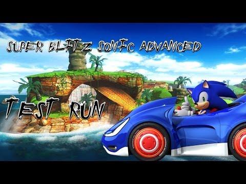 Blitz Sonic - Super Blitz Sonic Advanced Test Run - Seaside Race Act 1 [Sonic 06/Speed Star]