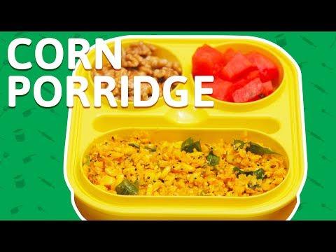 Quick Corn Porridge Recipe - How to Make Indian Corn Porridge - कॉर्न पॉर्रिज  - Tiffin Recipes