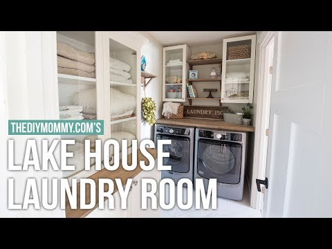 Classic Cottage Laundry Room Tour | Mom's Lake House | The DIY Mommy