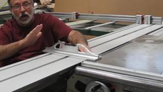 Panel saw slide table alignment and check - PakVim net HD