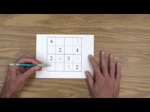 Teach Your Child How to Solve 4 x 4 Sudoku Puzzles