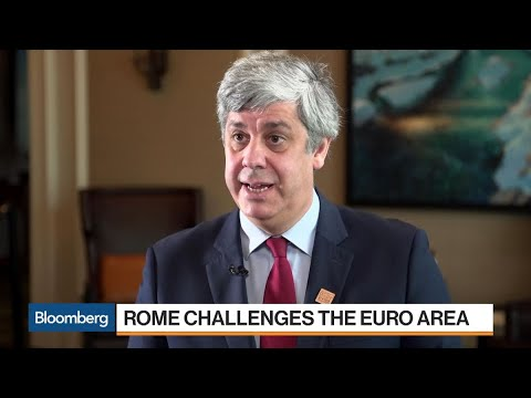 Eurogroup's Centeno on Italy, Spain, U.S. Trade Tariffs