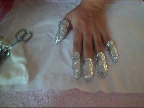 How To Remove Shellac, Gel & Acrylic Nails At Home - Nail Tutorial