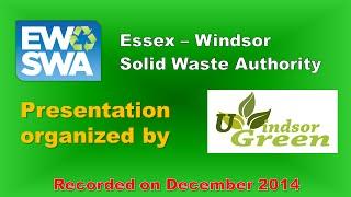 Ewswa And Uwindsor Green - Recycle Talk