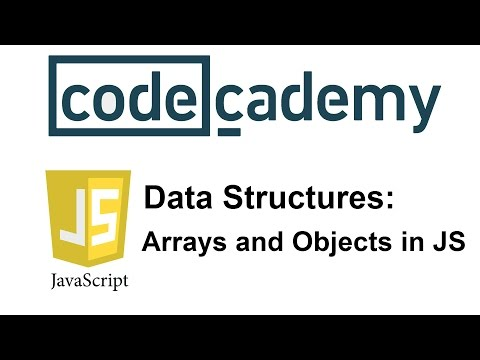 Learn JavaScript with Codecademy: Arrays and Objects in JS