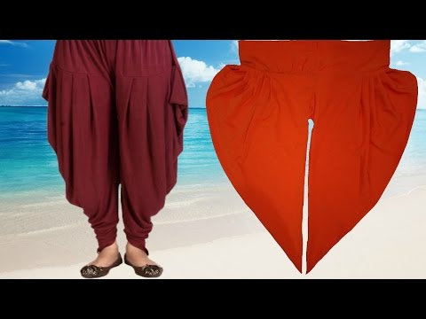 How To Cut And Stitch Dhoti Salwar | Samosa Salwar | Step By Step
