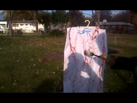 Make your own bloody Halloween costume