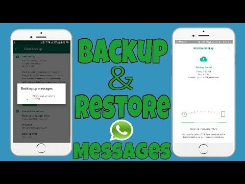 how to backup and restore whatsapp messages on android