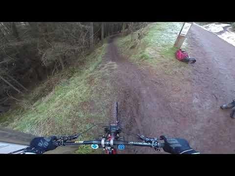 BASE mountain biking timed downhill section at Innerleithen