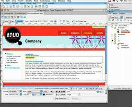 Creating Templates in Dreamweaver
