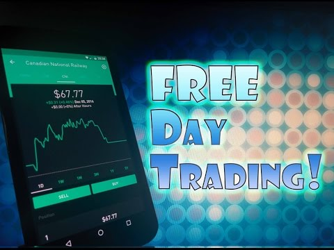 Robinhood APP - Free Stock DAY TRADING!  How to BUY and SELL with NO FEES!