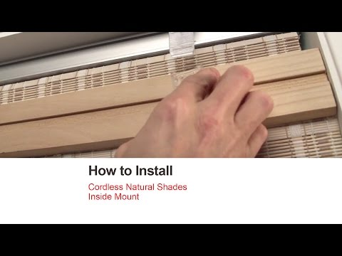 Bali Blinds | How to Install Cordless Natural Shades - Inside Mount