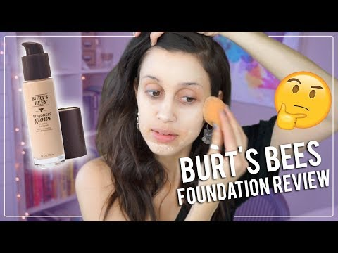 NEW Burt's Bees Goodness Glows Foundation - Review First Impressions