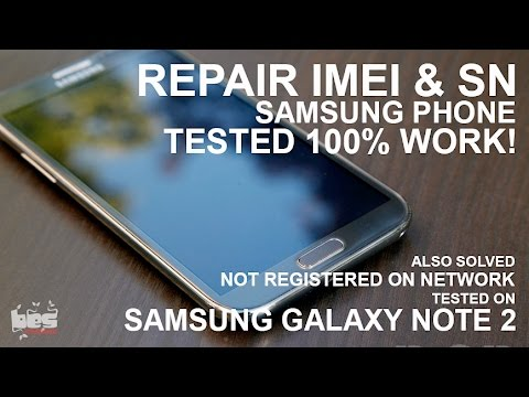 Repair wrong / null IMEI & Serial number Samsung phone tested 100% work!