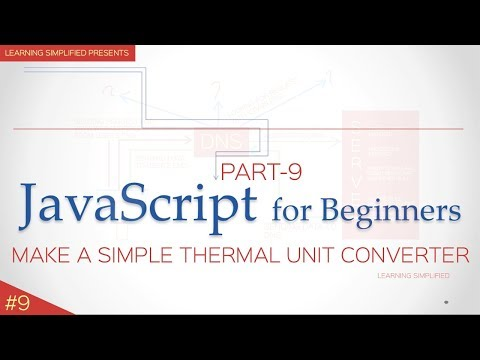 JavaScript tutorial for Beginners #9-Code to Convert Celsius to Fahrenheit