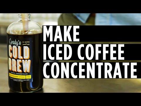 How to Make Your Own Iced Coffee Concentrate