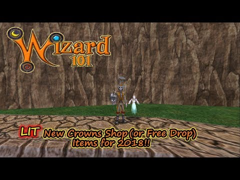 Wizard101 New LIT Crowns Shop (or Free Drop) Items for 2018