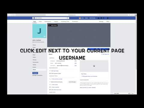 HOW TO CHANGE THE USERNAME OF YOUR FACEBOOK BUSINESS OR BRAND PAGE