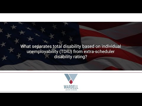 What separates total disability based on individual unemployability (TDIU) from extra...