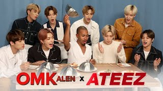 'OMKalen': Kalen's Kultural Mukbang with K-Pop Group ATEEZ