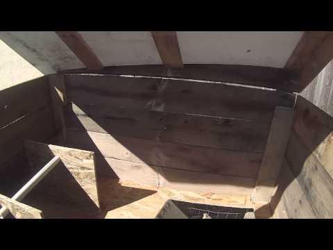 The Five pallet chicken coop
