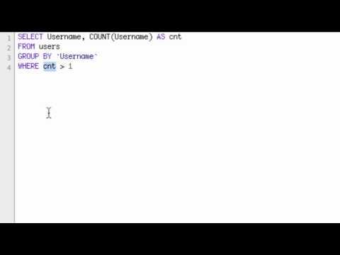 mySQL Find Duplicates