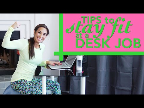 Tips to Stay FIT at a Desk Job   Natalie Jill