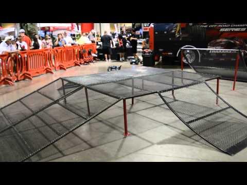 TRAXXAS RC Trucks, freestyle ramp jump