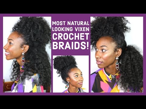 Kinky curly vixen crochet braids for natural hair! No it's not all hers! (ll ft.Trendy Tresses