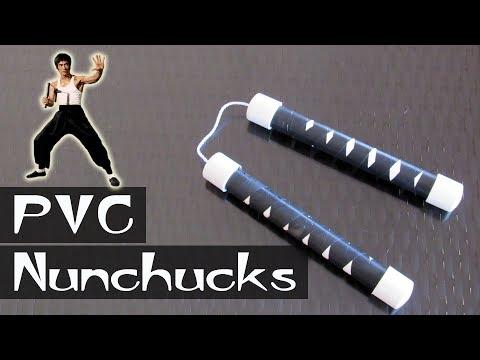 How to make pvc nunchucks (nunchaku) - DIY simple nuchucks